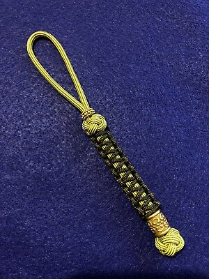 550 Paracord Combo Knife Lanyard Boom Diggity And OD Green with Brass Bead