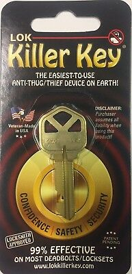 LOK KILLER KEY Lock-out key disables Kwikset locks Home/Bus. aka Lock Killer Key