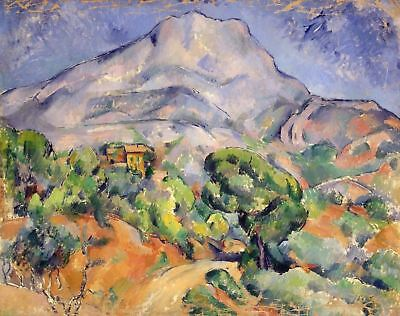LANDSCAPE OF MOUNTAIN by Paul Cezanne - Matt, Glossy, Canvas Paper A4 or A3