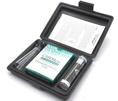 New Chemetrics K-7599 Dissolved Oxygen Test Kit K7599