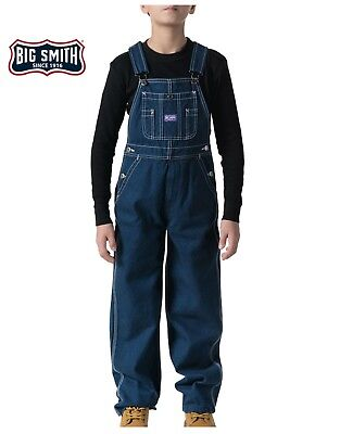 Big Smith Youth Kids Size Denim Cotton Bib Overalls For Boys & Girls - NOS