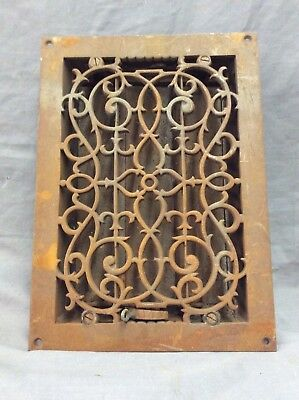 Antique Cast Iron Decorative Heat Grate Floor Register 10X14 Vintage Old 17-19D