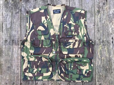 New Kids Army Tactical Waistcoat Assault Vest Dpm Camo Childrens Childs Fishing
