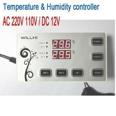 Electronic Digital temperature & Humidity controller -55-110C thermostat control