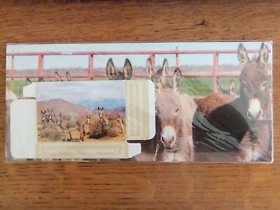 NEW Unopened Sealed--Plastic Coated PLAYING CARDS--PEACEFUL Valley Donkey RESCUE