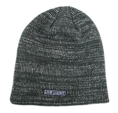 f5202ed87f1 NEW Black Clover Live Lucky Frosted Luck  2 Grey Black Winter Golf Beanie