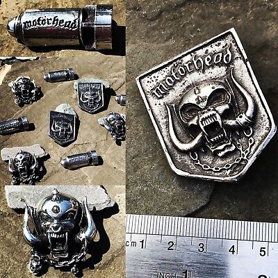 Polished Motorhead Badges bundle x3 Warpig punk Metallica slayer discharge
