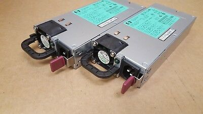 Lot of 2 HP 1200W SWITCHING POWER SUPPLY DPS-1200FB A  HSTNS-PD11