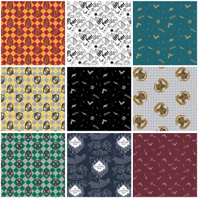 Harry Potter Fabric Material - Flannel / Brushed Cotton - 10 Designs