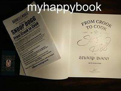 SIGNED From Crook to Cook Platinum Recipes by Snoop Dogg, autographed, new