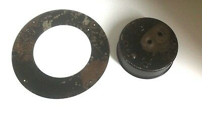 Vintage Smiths Mantle Clock Spares Parts Antique Look Cover Plate 30 Hours