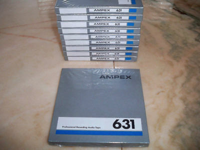 NEW!!! Sealed Ampex 631 Professional Audio Tape on 7-in. Reels