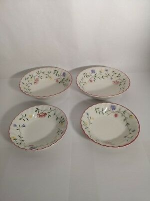 4 Bowls in Johnson Brothers ENGLAND Summer Chintz - 2 Cereal & 2 Fruit / Dessert