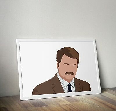 Parks and Recreation, Ron Swanson, Poster, Print, Wall Art, Home Decor, Gift