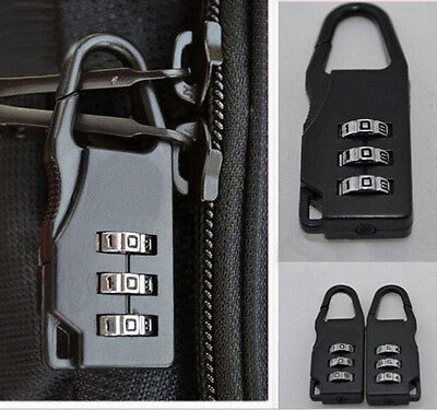 Travel Luggage Suitcase Combination Lock Padlocks Bag Password Digit Code CA