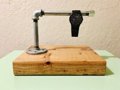 Industrial Piping Jewelry Stand/Watch Display - Galvanized Pipe