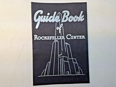Vintage Guide Book of Rockefeller Center-1936-New York City-Program-Booklet