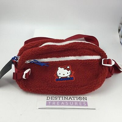 Converse X Hello Kitty Large Belt Bag Fanny Pack 2nd Release Merch Red Fuzzy