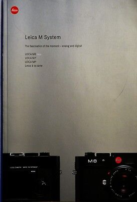 Leica M Rangefinder System Catalogue And Guide, 76 Pages