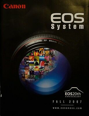 Canon Eos System Film And Digital Brochure/Guide, 63 Pages