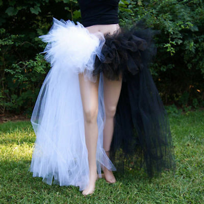 Lady Burlesque Bustle Tulle Tutu Mesh Sheer Skirts Fashion Halloween Fancy Dress