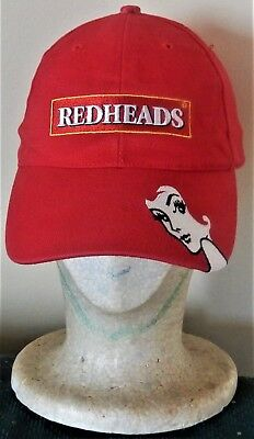 REDHEADS MATCHES Red Baseball CAP Hat Rare Used GC