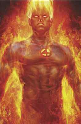 Fantastic Four 1 2018 Human Torch Stanley Artgerm Lau Unknown Virgin Variant Nm