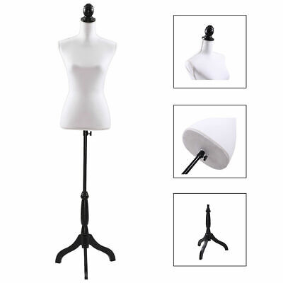 White Female Mannequin Torso Clothing Display W/ White Tripod Stand New Style