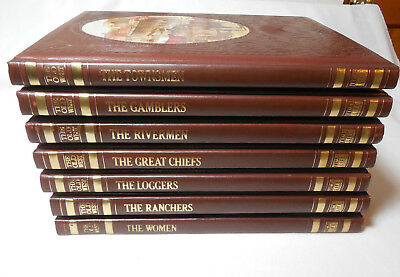 (Lot OF 7) The Old West Series Time Life Books LEATHERETTE Hardcover Book