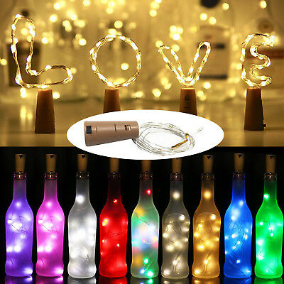 Cork Shaped 1M 2M 3M Copper Wire LED String Light Wine Bottle For Xmas Decor RD9