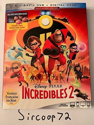 The Incredibles 2 w/Slipcover (Blu-ray + DVD + Digital) English/French Version