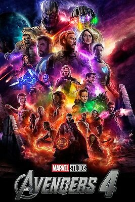 Avengers 4 Endgame Movie Family Art Decor Print Poster 40x27 36x24 18x12""
