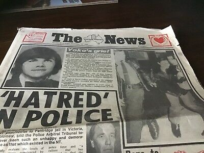 The Northern  Territory old news newspaper 1980 The  Beatles John Lennon