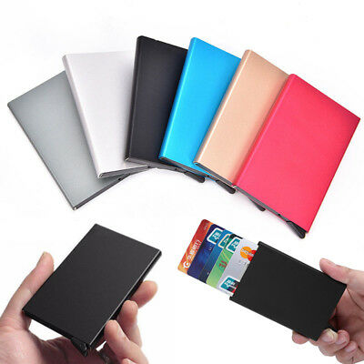 Hot Unisex Metal ID Credit Card Holder RFID Protector Aluminum Wallet Card Case