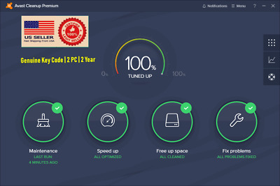 Avast Cleanup Premium | Tune Up & Speed Up Your PC | Genuine Key Code | 3 Years
