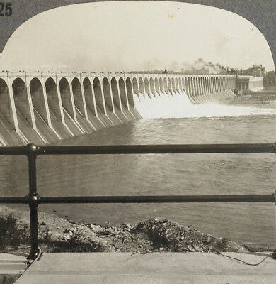 Keystone Stereoview The Great Wilson Dam, Muscle Shoals, AL from 1930's T400 Set
