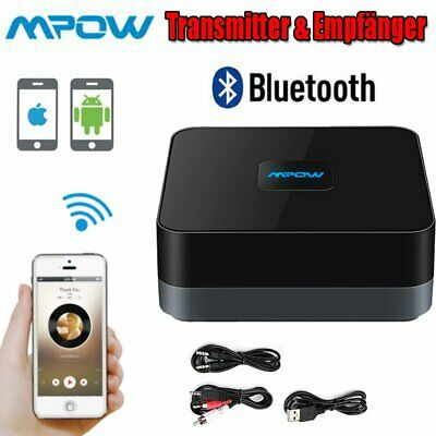 MPOW Wireless Bluetooth 4.1 Empfänger Stereo Audio Musik Receiver 3.5mm RCA AUX