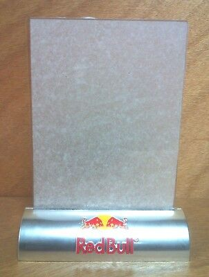 Red Bull Energy Drink Table Stand - Photo Holder - Set of Two (2) - New & F/S