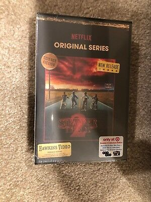 Stranger Things Season 2(Bluray+DVD)VHS Packing-Target Exclusive(Brand New )