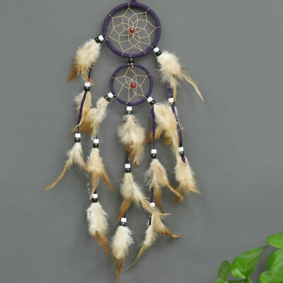 Feather Dreamcatcher Handmade Dream Catcher Net with Feathers Beads Decoration