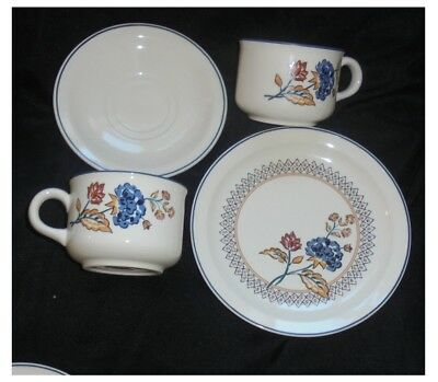 ASSORTED BOOTS CAMARGUE CHINA ~ 3 x TEACUPS, 4 x SAUCERS AND 2 x SIDE PLATES