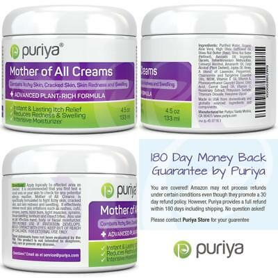 Puriya Cream For Eczema Psoriasis Rosacea Dermatitis Shingles