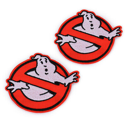 """2pcs 3.5"""" Embroidered Retro Ghost Busters Sew Iron On Patch Badges Bag Applique"""
