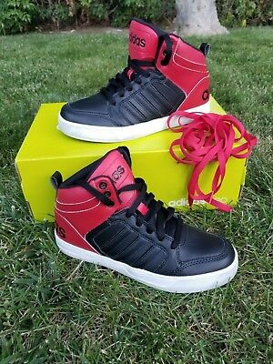 promo code 6921c 69197 Adidas Neo Boys Shoes Size 5 Raleigh 9TIS Mid K in BOX Red and Black