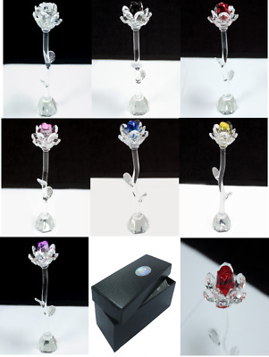Star Crystal Roses - Gift Boxed - Love Valentine's Ornament