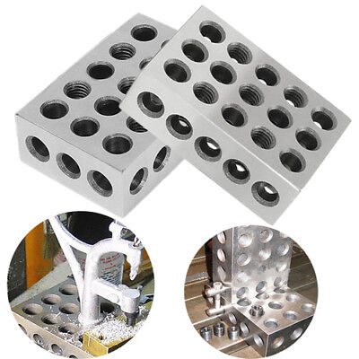"""2PCS 1-2-3 Block Ultra Precision Matched .0002"""" Machinist Milling Engineer Tool"""