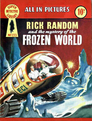 SUPER DETECTIVE LIBRARY No.133 RICK RANDOM - FROZEN WORLD - Facsimile