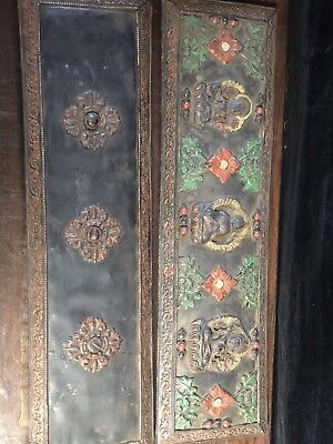 Chinese Antique Tibetan Buddhist hand-set gem Buddha statue Scripture