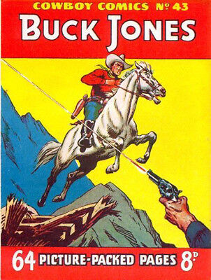 COWBOY COMICS / PICTURE LIBRARY No.43 - BUCK JONES   Facsimile