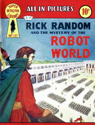 SUPER DETECTIVE LIBRARY No.137 RICK RANDOM - ROBOT WORLD - Facsimile